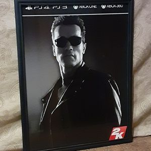 "Schwarzenegger W2K Framed 11"" x 14"" Video Game Wal"